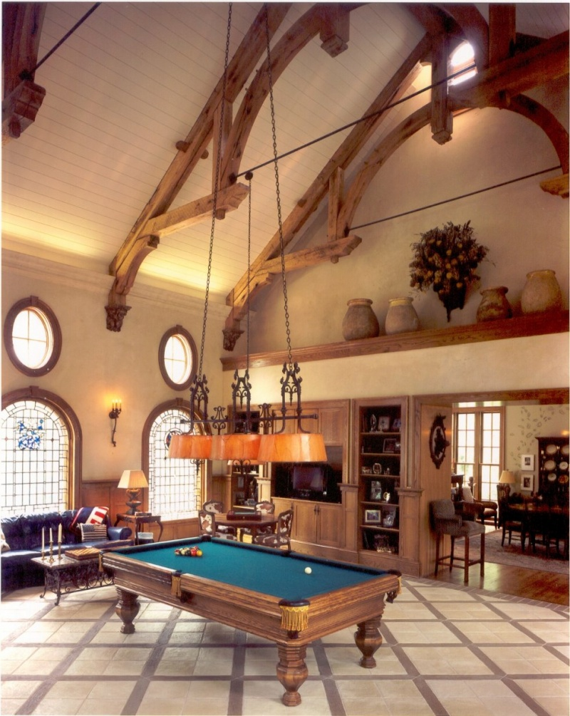 Idee Couleur Deco Wc : Billiard Room Decor Inspirations  Shelterness