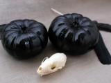 black glitter pumpkin