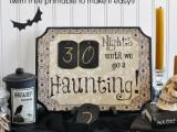 stylish Halloween countdown