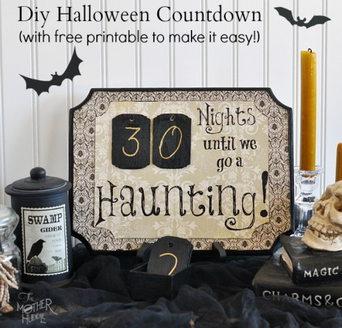 stylish Halloween countdown (via shelterness)