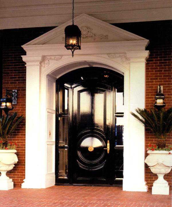 picture of black front door design