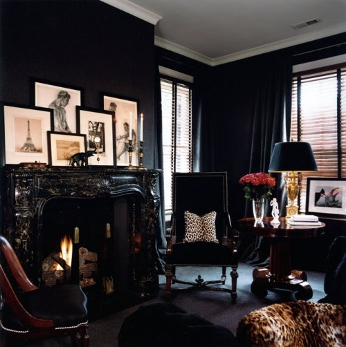 25 Black Room Design Ideas