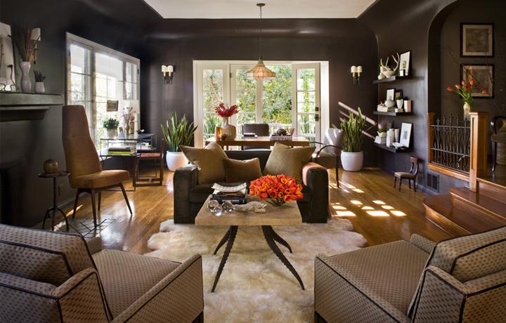 Дизайн интерьера в коричневом цвете
