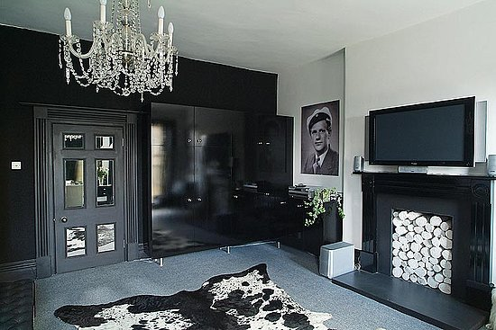 Picture of black interior design ideas for Black grey interior design