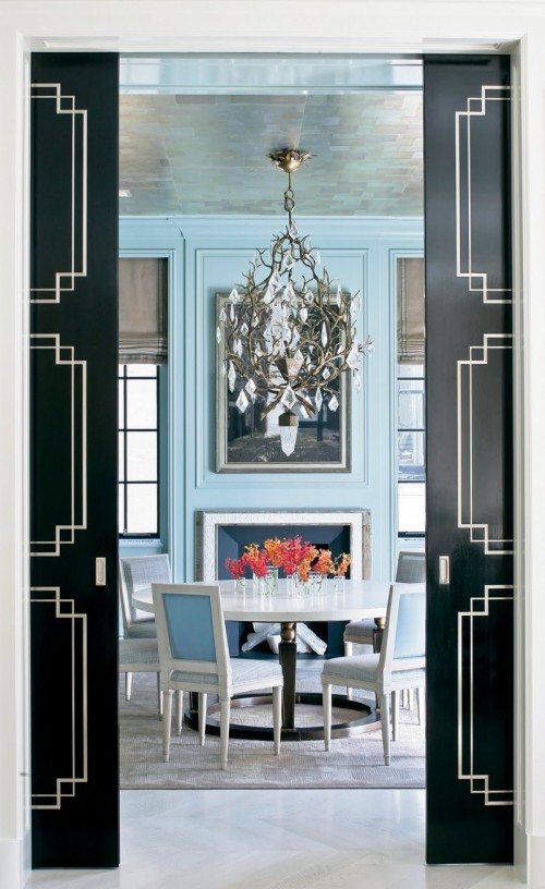 25 ideas to use black interior doors shelterness - Sophisticated black interior doors ...