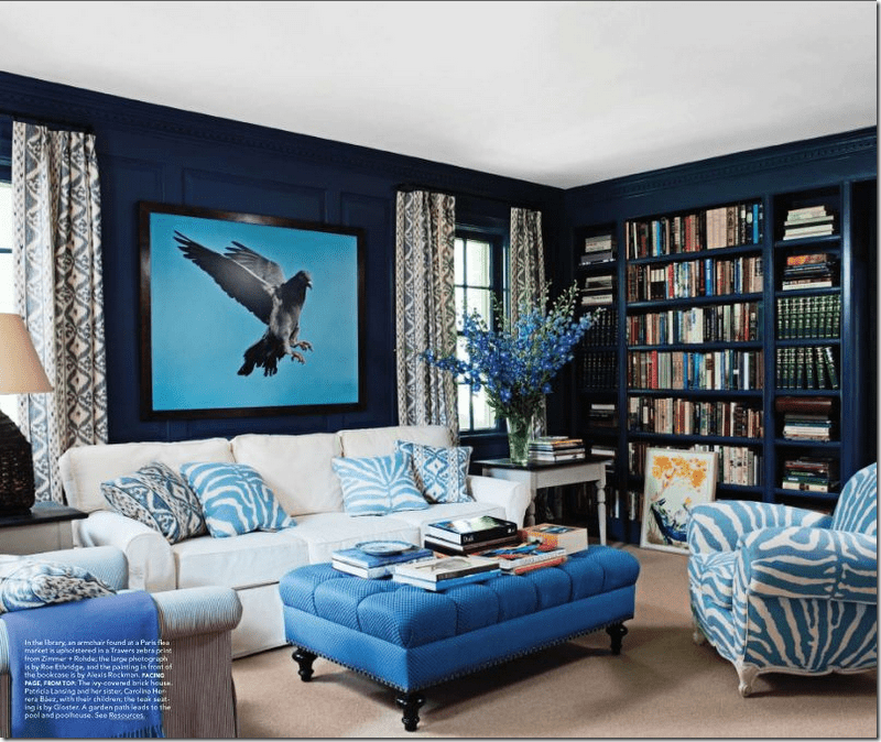 White and Blue Living Rooms Ideas