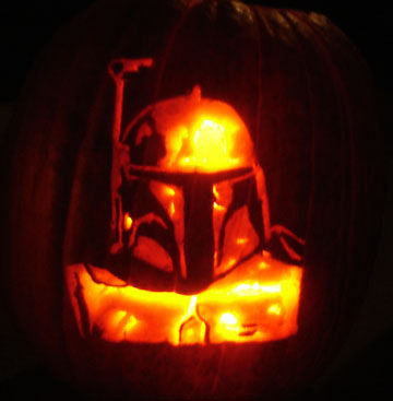 21 the most creative movie inspired pumpkin carvings shelterness boba fett pumpkin pronofoot35fo Image collections