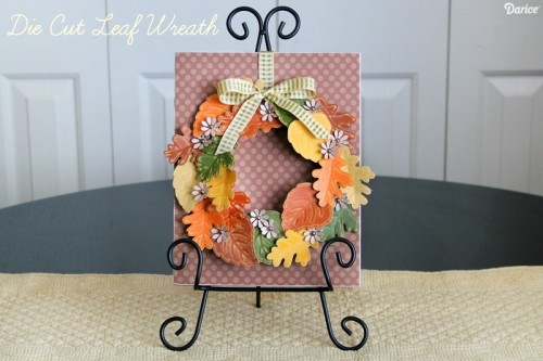 decor paper leaf wreath (via blog)