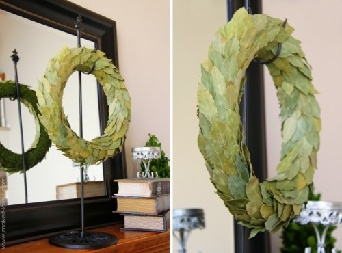 real leaves wreath (via makeit-loveit)