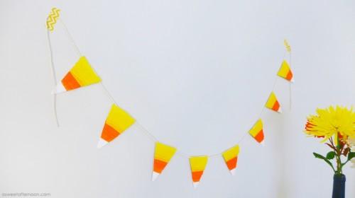 Bold DIY Candy Corn Wall Hanging