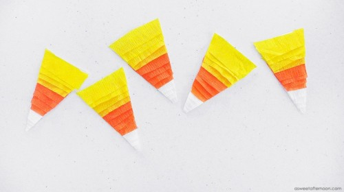 Bold DIY Candy Corn Wall Hanging