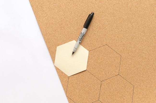 Picture Of bold diy hexagon cork coasters  2