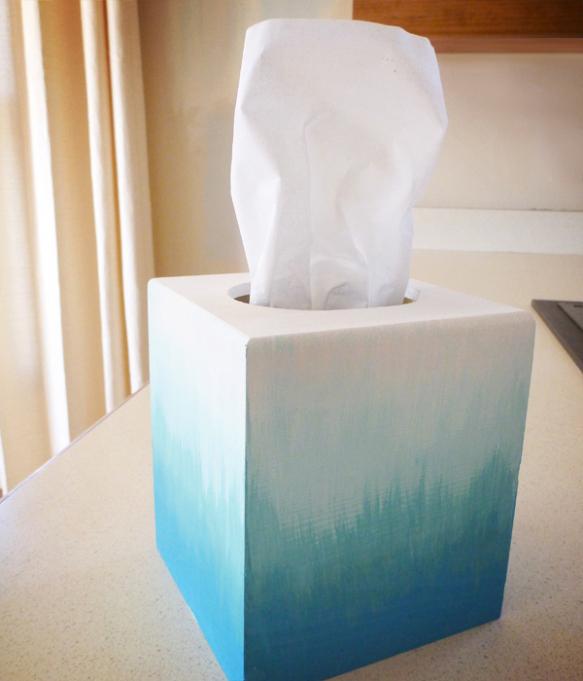 ombre tissue box