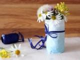 ombre paper vase