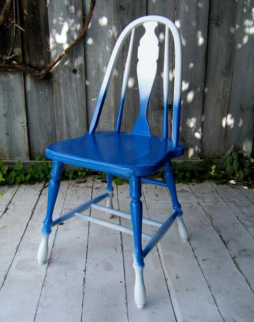 blue ombre chair (via designsponge)