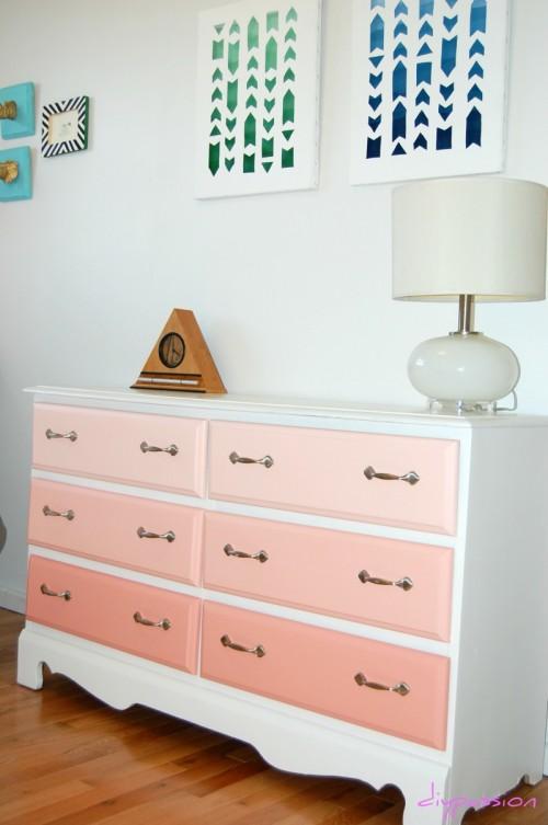 pink ombre dresser (via halifaxbloggers)