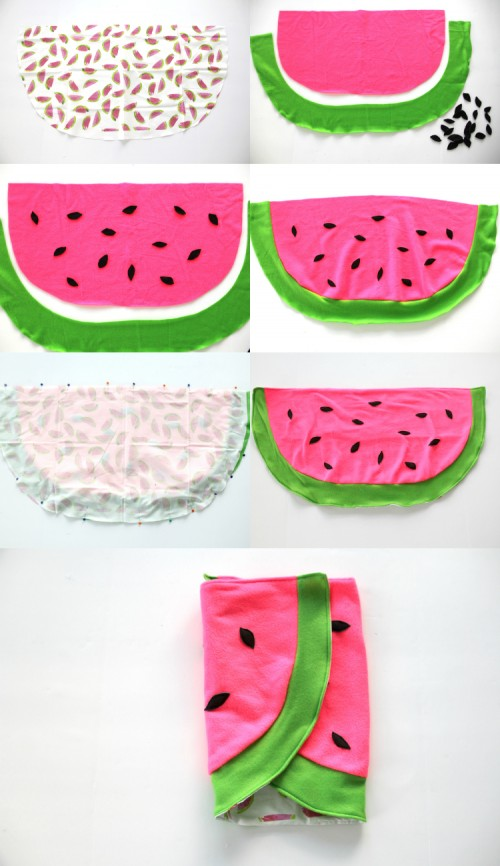 Bold DIY Watermelon Baby Blanket