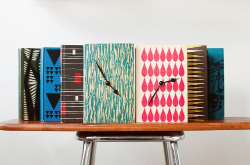 Vintage Book Clocks