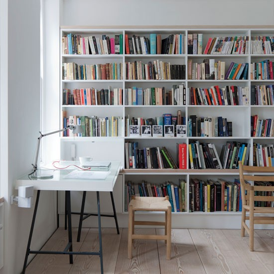 if you have a spacious dedicated home office you might want to make part of it bookcases for home office