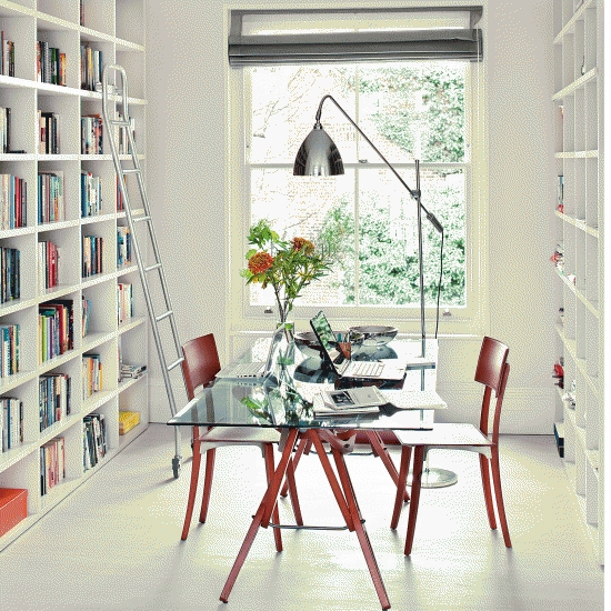 if you have lots of books you could combine your office with a home library bookcases for home office