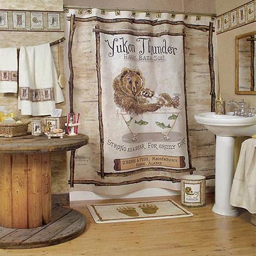Lodge Themed Bathroom Decor: 10 Little Boys Bathroom Design Ideas