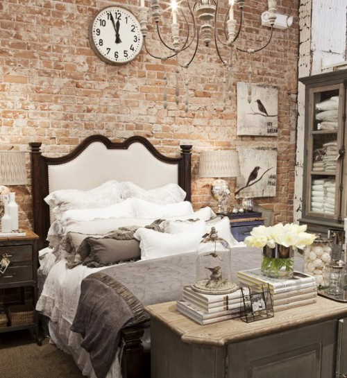 Bedroom ideas archives shelterness Brick wall bedroom design