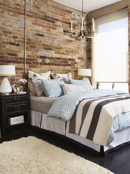 Idea To Decorate A Brick Wall Behind Your Bed Shelterness - Bedrooms brick walls