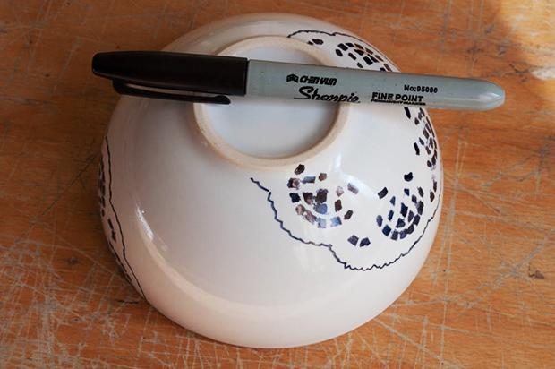lace sharpie bowl