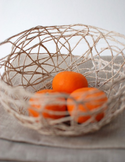 string fruit bowl (via crafts)