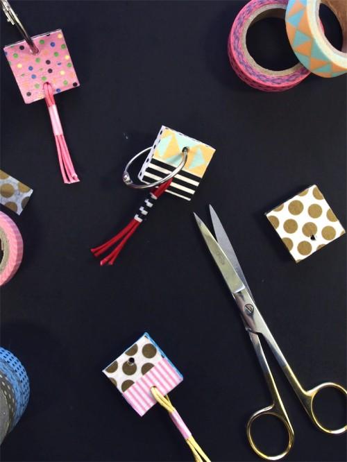 Bright And Fun DIY Washi Tape Key Rings