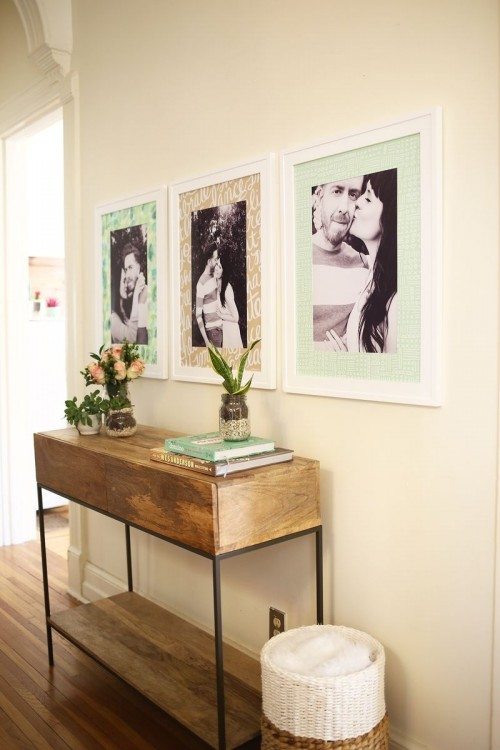 Bright And Quirky DIY Patterned Photo Mats