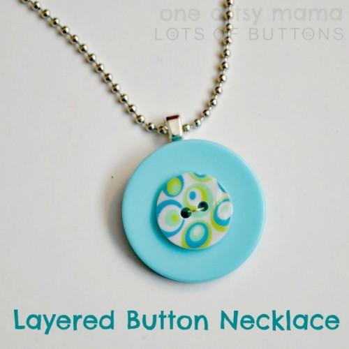Bright DIY Layered Button Necklace