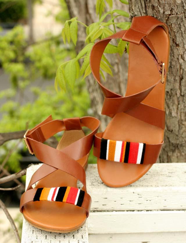 tribal wrap sandals