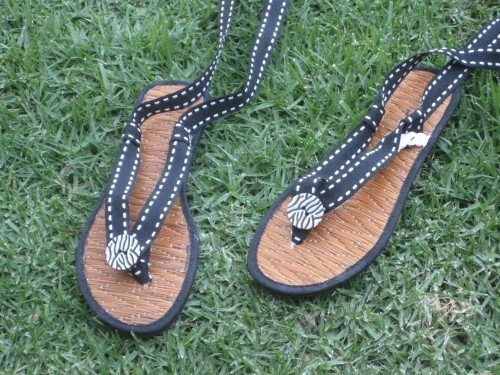 gladiator wrap flip flops