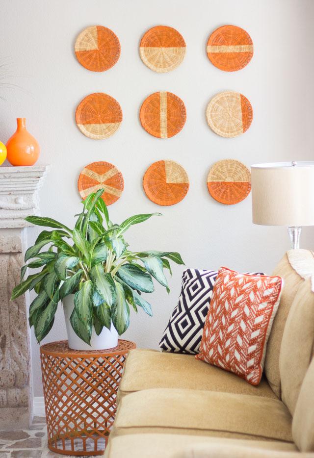 Bright Diy Wall Art Of Rattan Plate Holders