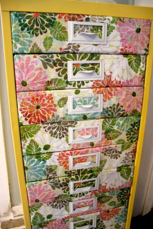 Bright Flower Dresser Of An Old One