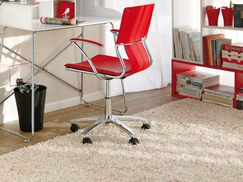 bright home office with red accents bright home office design