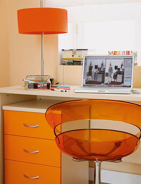 bright orange home office design bright home office design