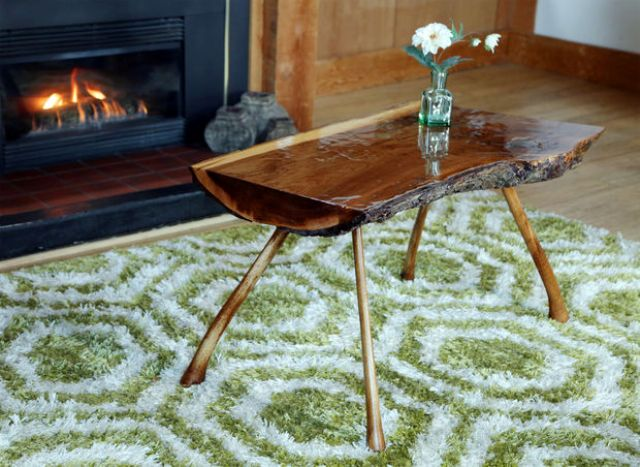 Picture Of bring outdoors inside diy lumberjack table  1