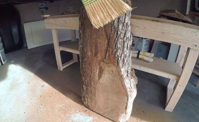 Picture Of bring outdoors inside diy lumberjack table  2