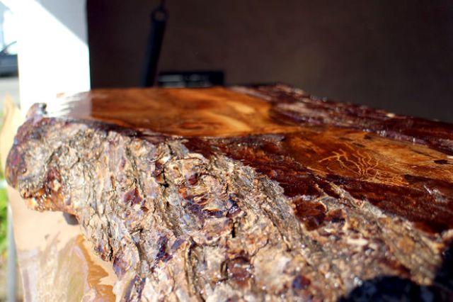 Picture Of bring outdoors inside diy lumberjack table  4