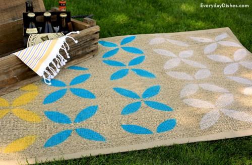 Budget Savvy DIY Stenciled Outdoor Rug