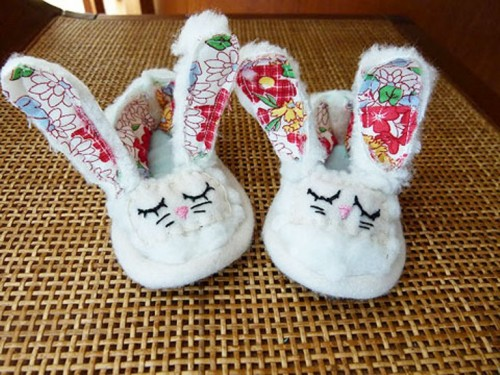 Homemade Bunny Shoes As An Easter Present