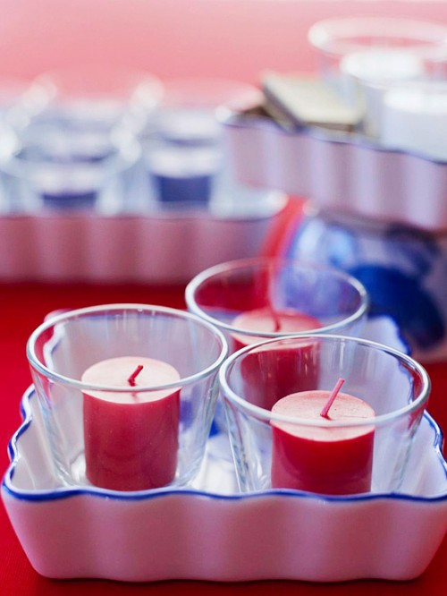 DIY Candle Centerpiece For 4th Of July