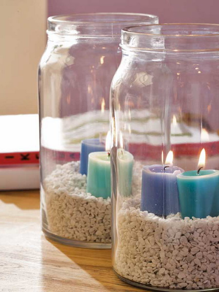 Summer candle centerpiece ideas shelterness
