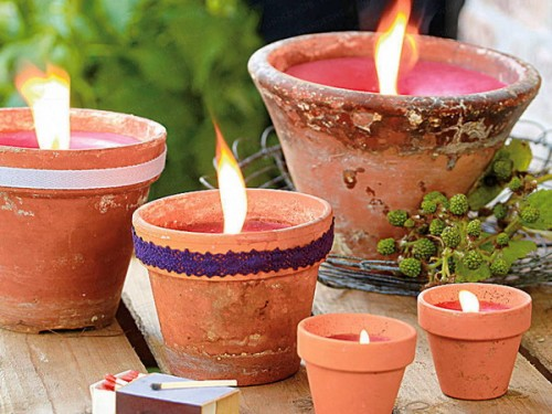 Candles In A Garden