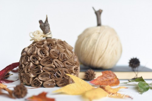 Creative And Fun DIY Brown Paper Pumpkin
