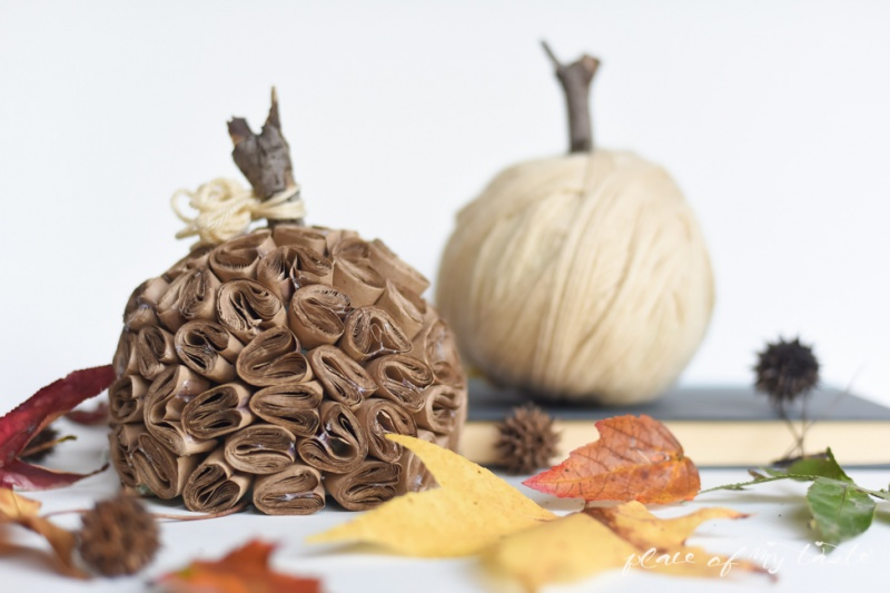 Picture Of ceative and fun diy brown paper pumpkin  8
