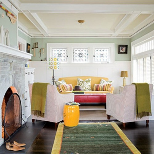 25 cool ceiling molding and trim ideas shelterness Bungalow living room design