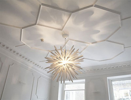 gorgeous hexagon molding brings trendy geometry to your space, while its white shade is non obtrusive